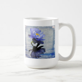 Waterlily azul taza