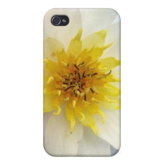 Waterlily blanco iPhone 4/4S funda