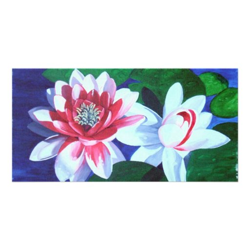 Waterlily Dance Personalized Photo Card