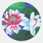 Waterlily Dance Round Sticker