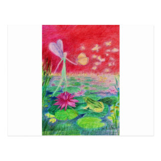 Waterlily dancer postcard