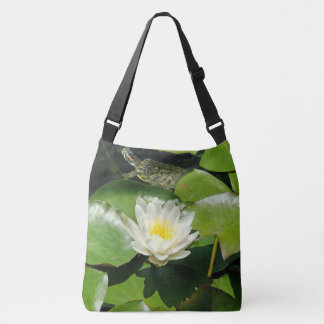 Waterlily Flower Slider Turtle Floral Pond Bag