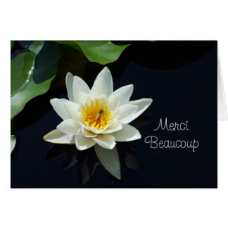 waterlily French thank you Greeting Card