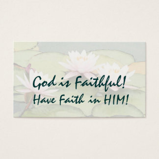 Waterlily God is Faithful! Card