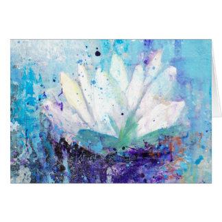 Waterlily in the Rain Postcard