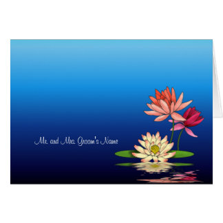 Waterlily Informal Notecard