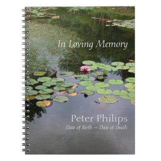 Waterlily - jardín pacífico - libro de visitas libros de apuntes