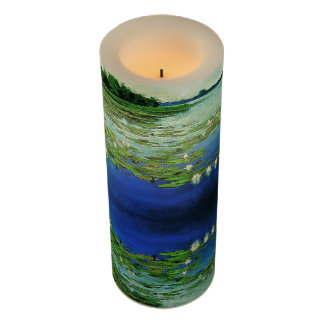 Waterlily Lilypad Water Garden Flameless Candle
