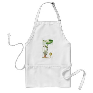 Waterlily Lotus Flowers Lilypads Water Garden Adult Apron