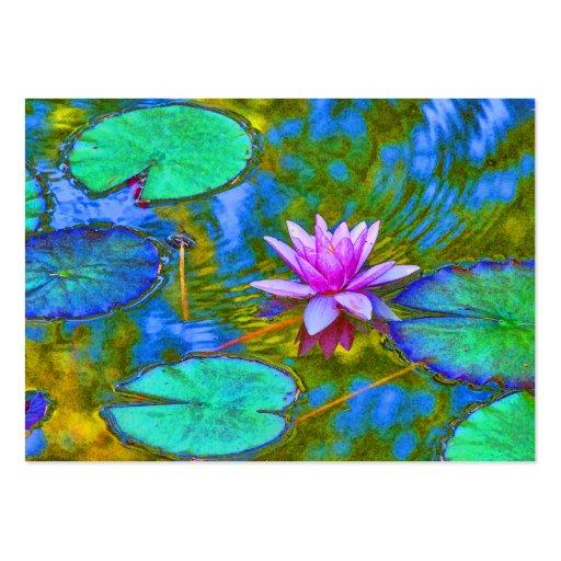 Waterlily Lotus para el estudio de la yoga, balnea Tarjetas De Visita