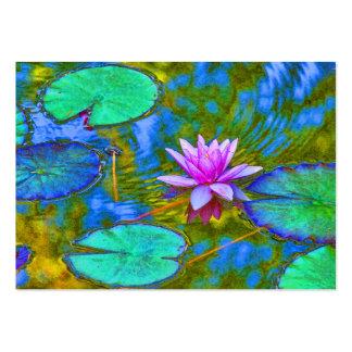 Waterlily Lotus para el estudio de la yoga, Tarjetas De Visita Grandes