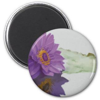Waterlily-Magnet 2 Inch Round Magnet