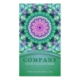 WaterLily Mandala Double-Sided Standard Business Cards (Pack Of 100)