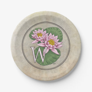 waterlily-only paper plate