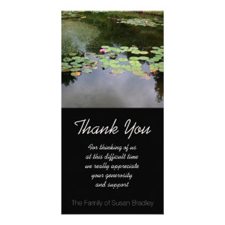 Waterlily - Peaceful garden - Sympathy Thank You Photo Card