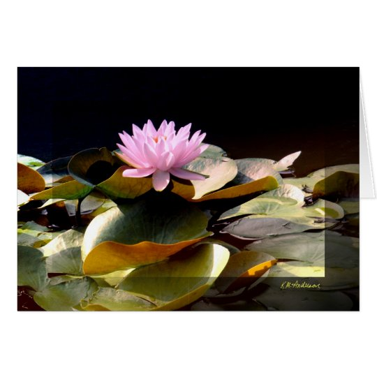 Waterlily Pink I Card