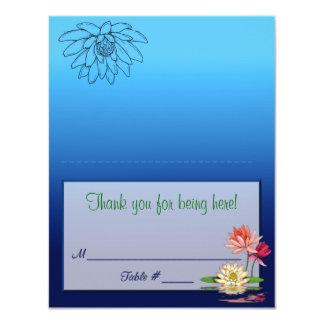 """Waterlily Placecard Invitación 4.25"""" X 5.5"""""""