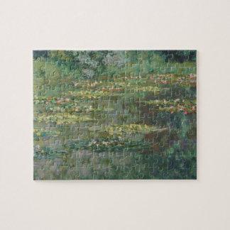 Waterlily Pond by Claude Monet, Vintage Fine Art Jigsaw Puzzle