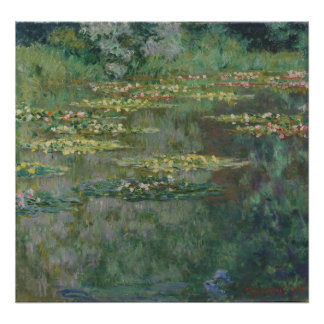 Waterlily Pond by Claude Monet, Vintage Fine Art Poster