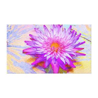 Waterlily púrpura impresion de lienzo