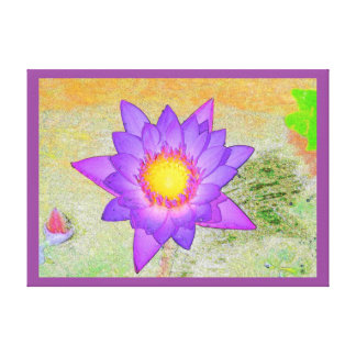 Waterlily púrpura impresiones de lienzo