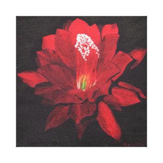 Waterlily rojo impresiones en lona