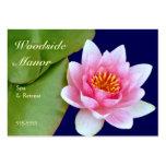 Waterlily rosado tarjeta de negocio