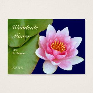 Waterlily rosado tarjetas de visita grandes