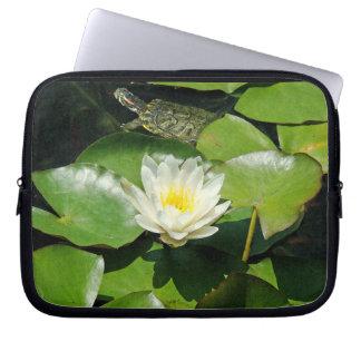 Waterlily & Turtle Laptop Sleeve
