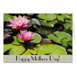 Waterlily Turtle Mothers Day Card