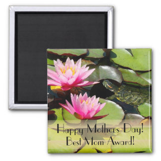 Waterlily Turtle Mothers Day Magnet