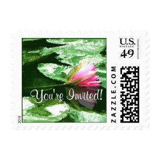 Waterlily Wedding Wedding postage