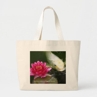 Waterlily with Koi Tote Bags
