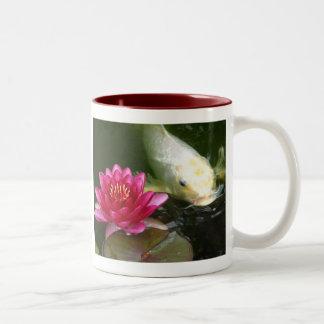Waterlily with Koi Two-Tone Coffee Mug