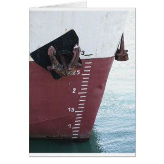 Waterline marked on the ship with scale numbering card