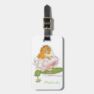 Waterliy, Lily pad customized fairy Bag Tag