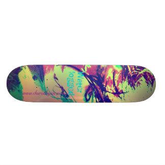 Waterlogged In Colour Skateboard Deck