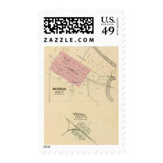 Waterloo and Valley, Nebraska Stamps
