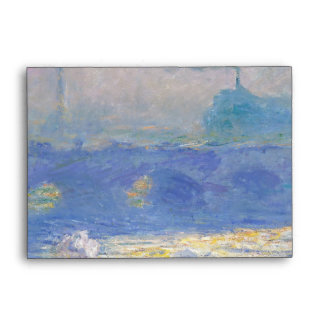 Waterloo Bridge by Claude Monet Envelope