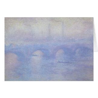 Waterloo Bridge by Claude Monet Impressionism Art Card
