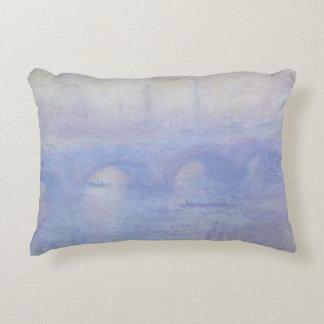 Waterloo Bridge by Claude Monet Impressionism Art Decorative Pillow