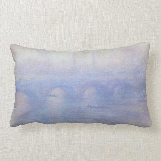 Waterloo Bridge by Claude Monet Impressionism Art Lumbar Pillow