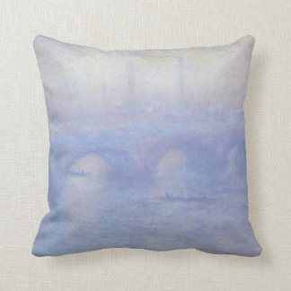 Waterloo Bridge by Claude Monet Impressionism Art Throw Pillow