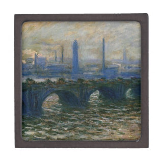 Waterloo Bridge by Claude Monet Jewelry Box