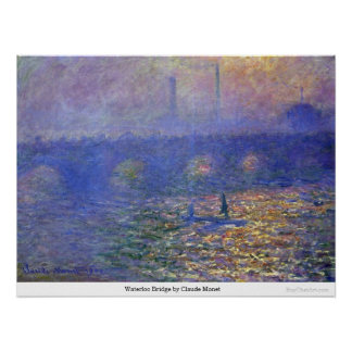 Waterloo Bridge by Claude Monet Posters