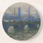 Waterloo Bridge by Claude Monet Sandstone Coaster