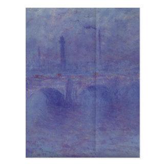 Waterloo Bridge, Effect of Fog by Claude Monet Postcard