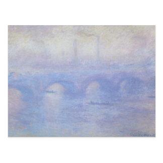 Waterloo Bridge, Effect of Mist by Claude Monet Postcard