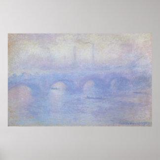 Waterloo Bridge, Effect of Mist by Claude Monet Poster