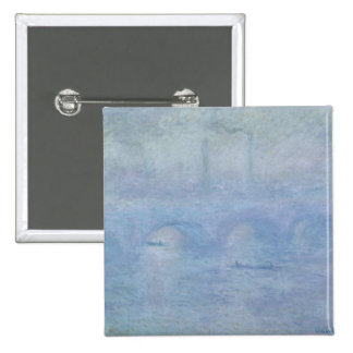 Waterloo Bridge: Effect of the Mist, 1903 Pinback Button